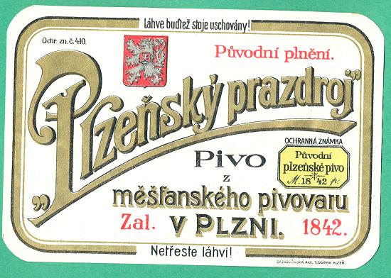 Etiketa z roku 1921
