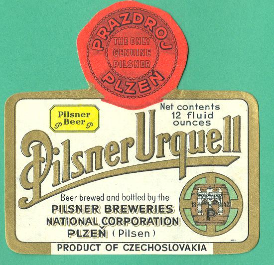 Etiketa z roku 1950