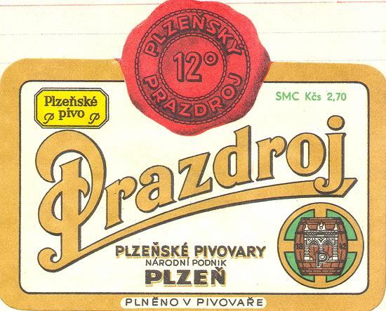 Etiketa z roku 1960
