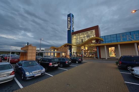 Současná podoba nákupního centra Freeport