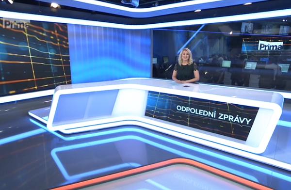 Nové studio zpravodajství FTV Prima.